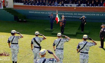 Vila Dosal presente en toma de protesta de Guardia Nacional