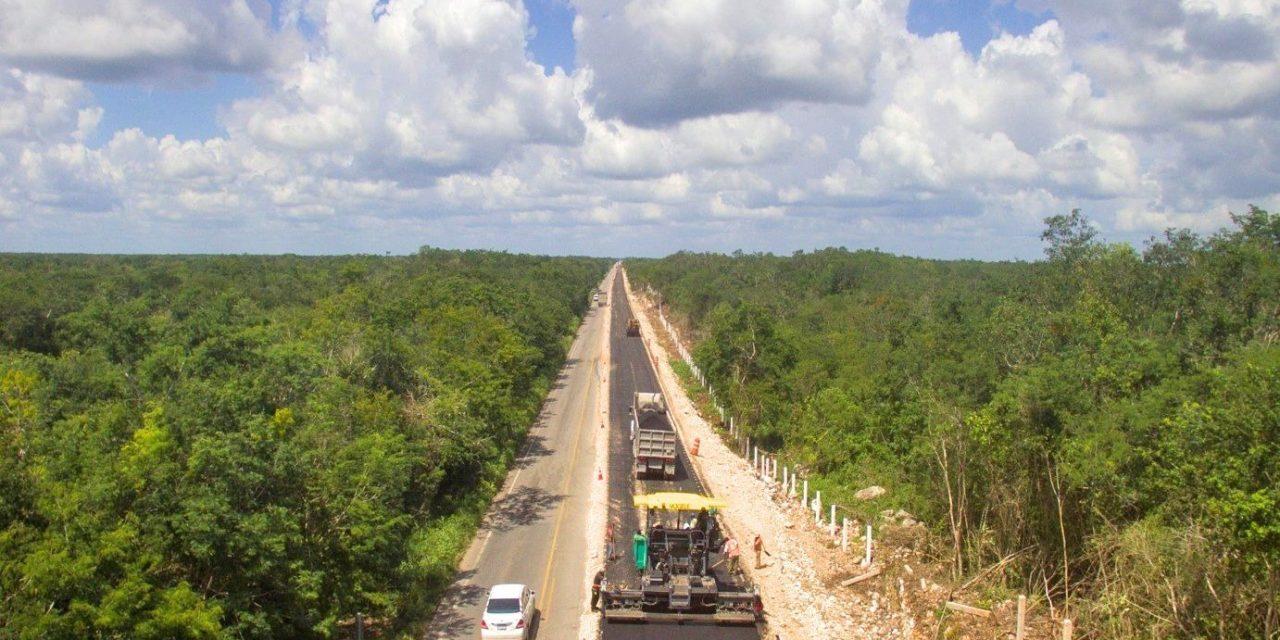 Carretera Mérida-Chetumal, en modernización este año del kilómetro 81 al 90