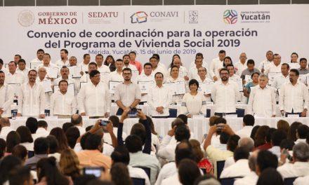 Histórica inversión de más de 900 MDP en Yucatán para acciones de vivienda