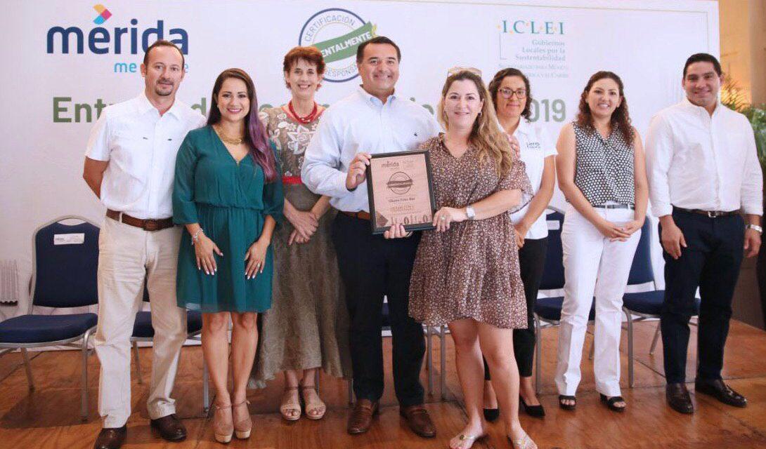Certificación 'Ambientalmente Responsable' a 26 restaurantes de Mérida
