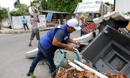 Sacan habitantes de Mérida 420 toneladas de cacharros este fin de semana