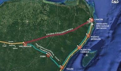 Redireccionan Tren Maya; eliminan tramo Valladolid-Cancún