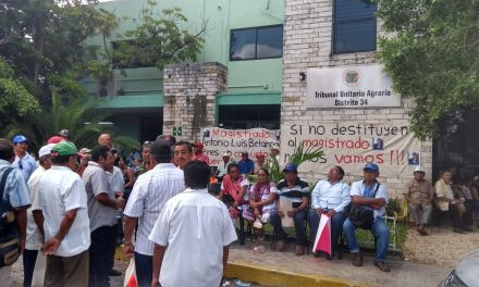 Ejidatarios en rebeldía: plantón permanente frente a Tribunal Agrario (Video)