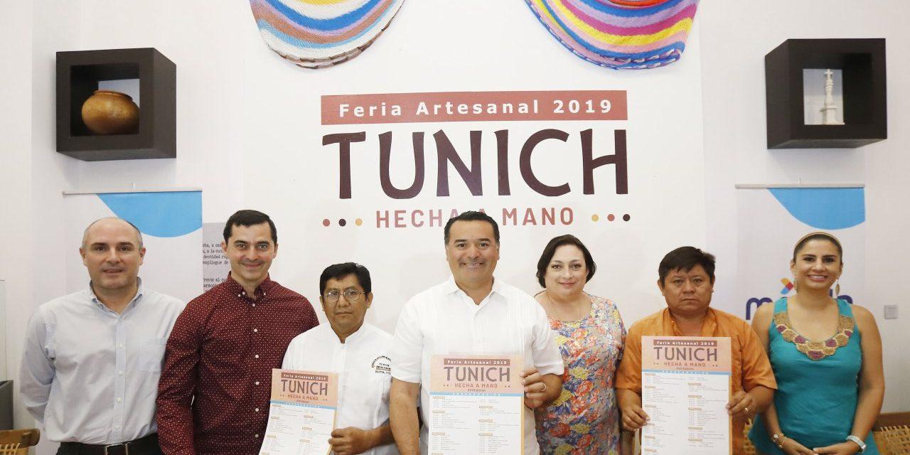 Presentan programa de 18a. edición de Feria Artesanal  Municipal Tunich 2019