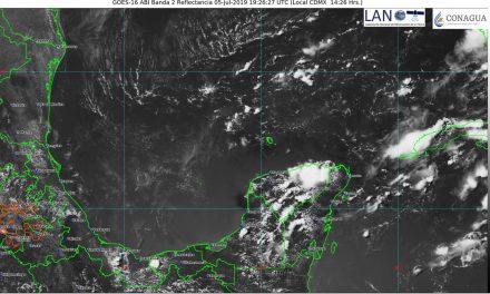 Fin de semana: ligera baja de calor, con chubascos en Península de Yucatán
