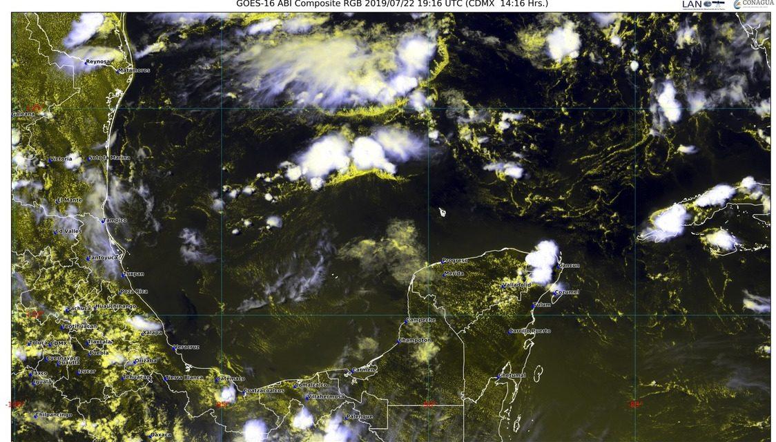 Clima Península de Yucatán: seguirán chubascos y calor de entre 39 y 40 grados