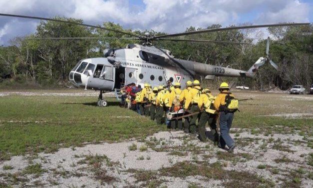 Controlado en 55 por ciento incendio forestal en Biosfera Sian Ka'an