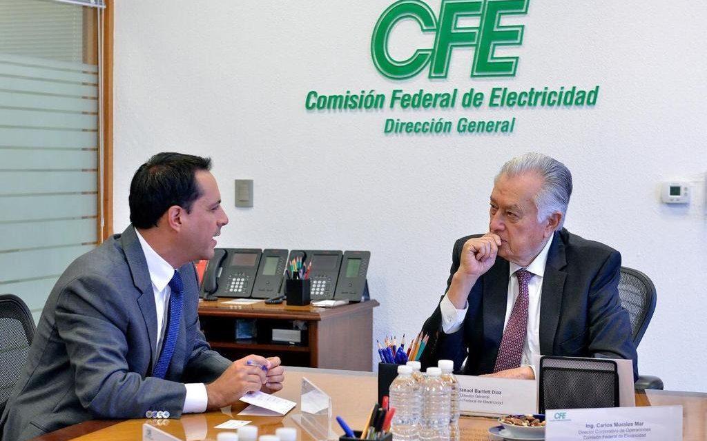 Vila y CFE retoman tarifas eléctricas y abasto suficiente de energía