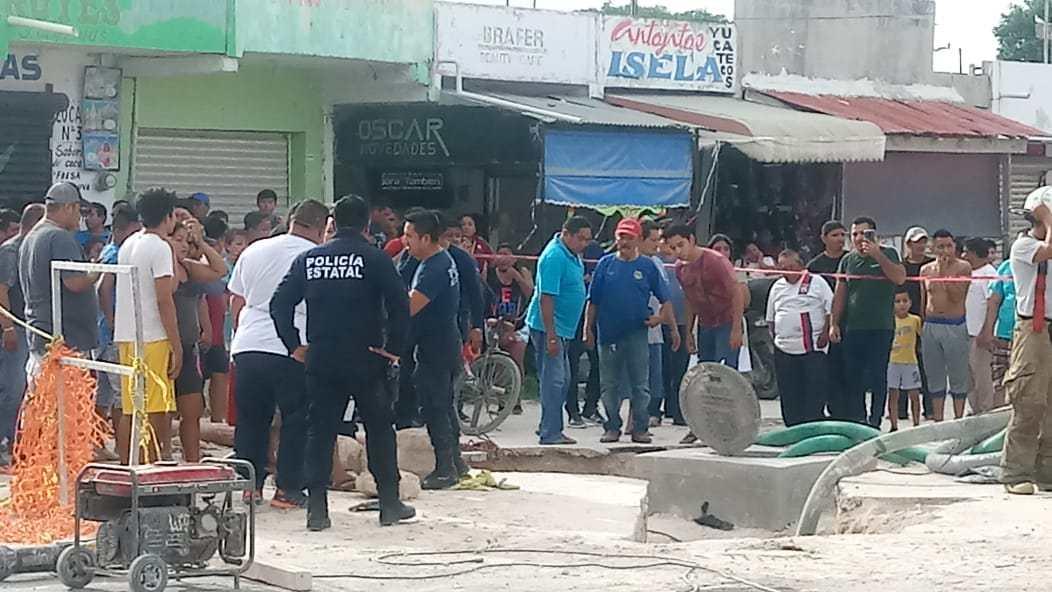 Cavan zanja en Chetumal y mueren tres por gas letal (Video)