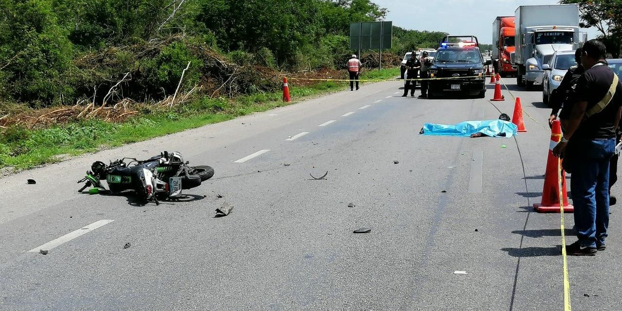 Muere motociclista en la carretera Mérida-Campeche