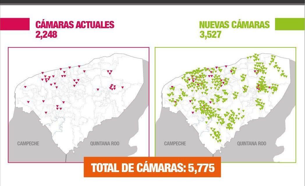 Más seguridad, con más cámaras de vigilancia en cada municipio de Yucatán