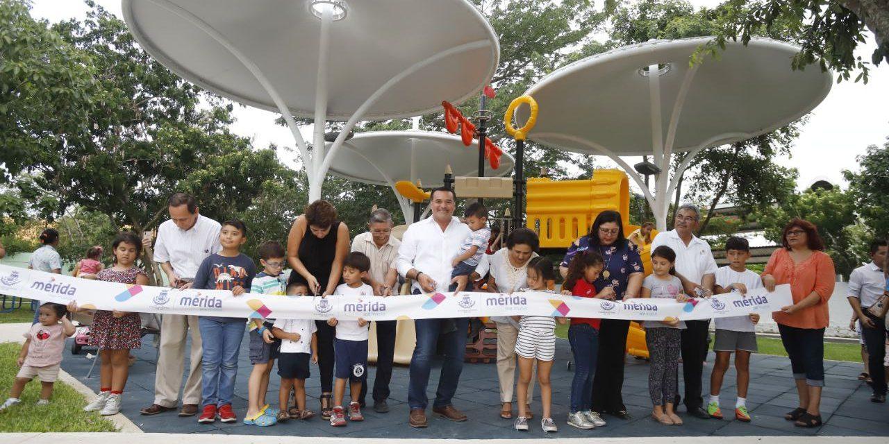 Parque de colonia Nuevo Yucatán, con diseño participativo de ciudadanos