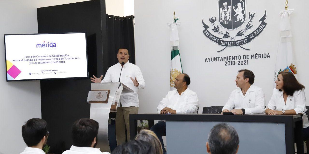 Buscan crecimiento ordenado y sostenible de Mérida con firma de convenio