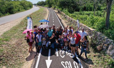 Renán Barrera Concha entrega nueva ciclovía que une San Pedro Chimay y Tahdzibichén