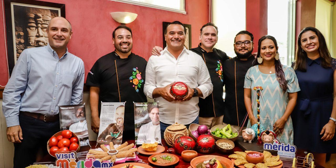 Mérida apuesta a gastronomía como estandarte turístico y económico.- Renán Barrera
