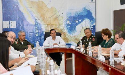 Gobierno de Yucatán, Fuerzas Armadas y autoridades federales refuerzan coordinación en materia de seguridad