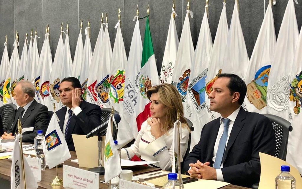 Mauricio Vila Dosal asistió a reuniones sobre seguridad y justicia