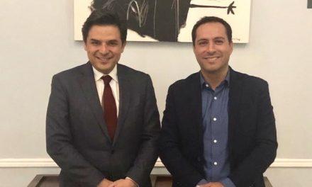 Mauricio Vila se reúne con el director del IMSS, Zoé Robledo Aburto