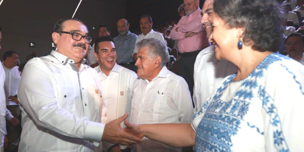 Osorio Chong y Moreno Cárdenas arropan a Ramírez Marín en Informe Legislativo