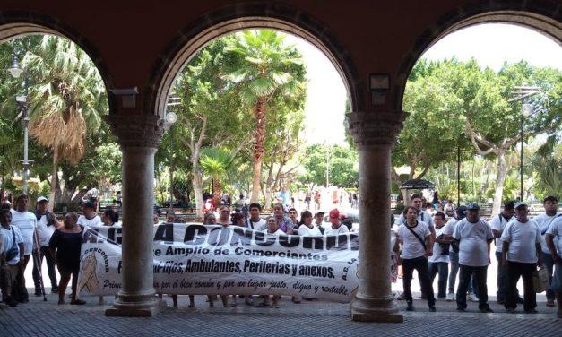 Dispuestos ambulantes de Mérida a reinstalación, pero con garantías