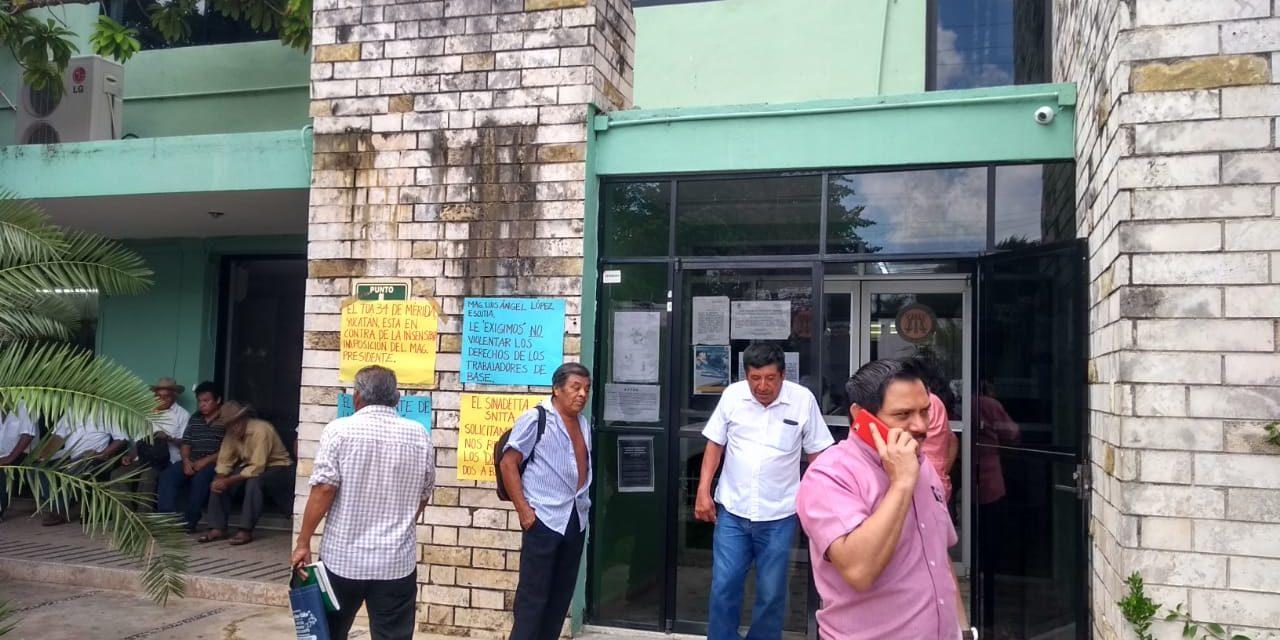 Inestable Tribunal Agrario: ahora sindicalistas pararon labores (Video)