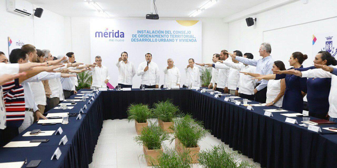 Instalado Consejo de Ordenamiento Territorial, Desarrollo Urbano y Vivienda de Mérida
