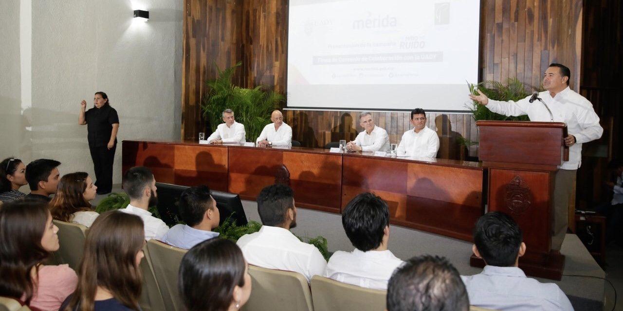 UADY se suma a Ayuntamiento de Mérida para disminuir contaminación auditiva