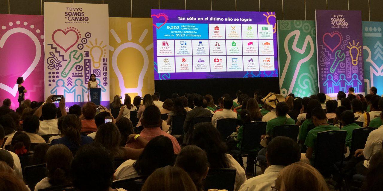 """Premia """"Tú y yo Somos el Cambio"""" proyectos transformadores en escuelas"""