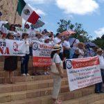 Molestos por el rumbo del país, marchan y critican políticas de AMLO (Video)