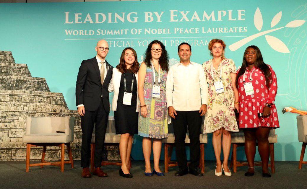 Jóvenes por la paz, en Cumbre de Premios Nobel en Mérida