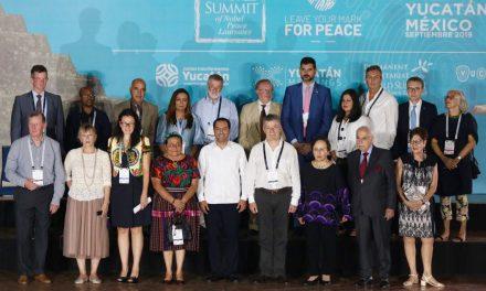 Bienvenida de Vila a Premios Nobel de la Paz a Cumbre Mundial
