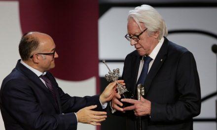 Segundo Premio Donostia de San Sebastián a Donald Sutherland