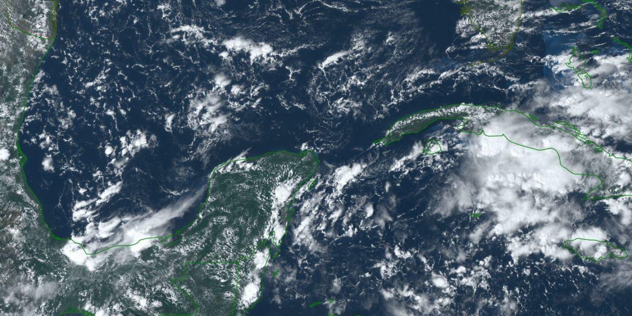 Más lluvias en puerta por baja presión en la Península de Yucatán