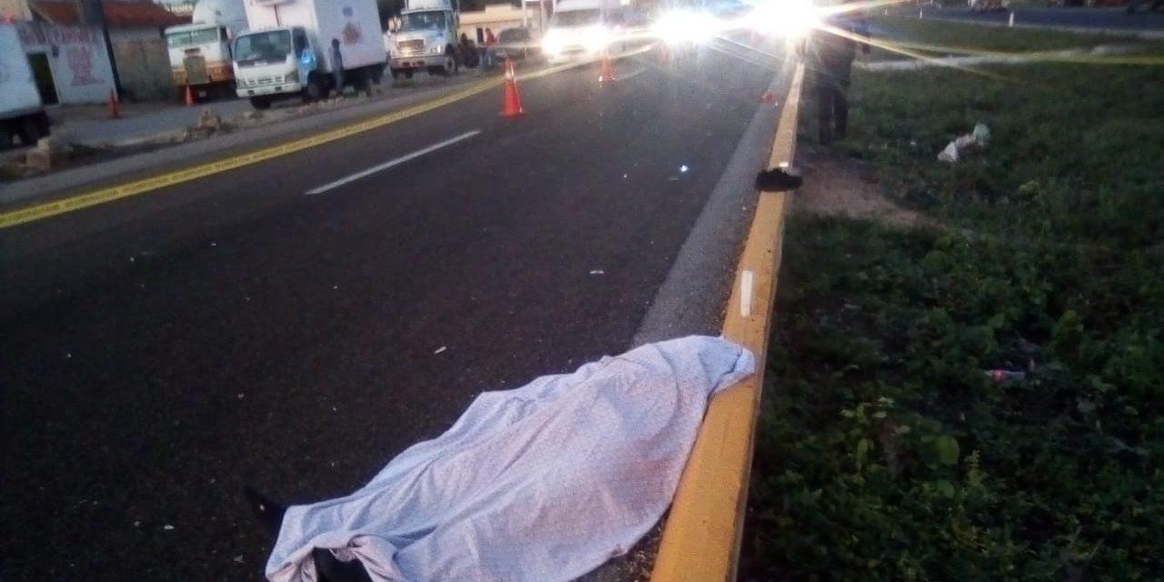 Muere trailero poblano en la federal Mérida-Campeche