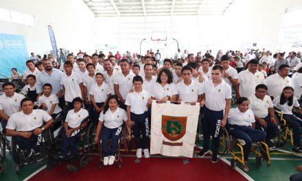 Abanderada la delegación yucateca a Paralimpiada Nacional