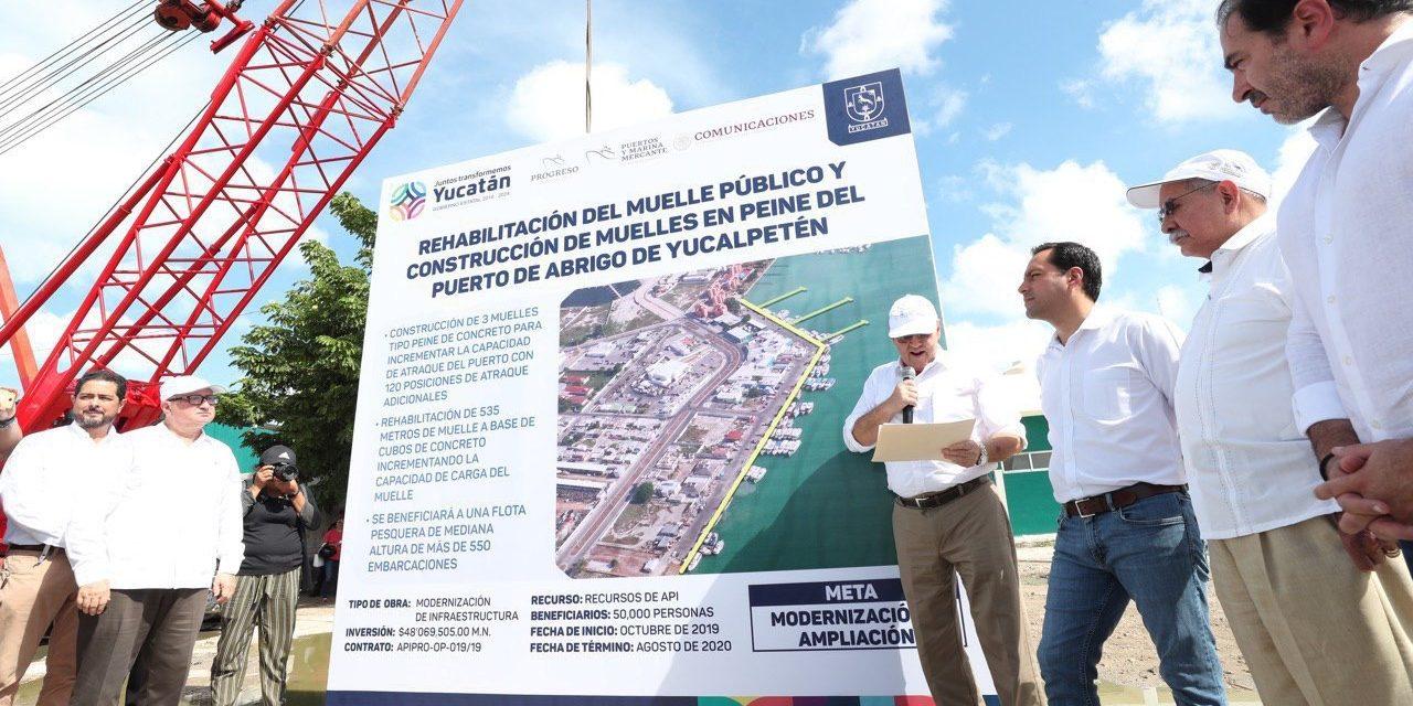 A rehabilitación y modernización puerto de abrigo de Yucalpetén