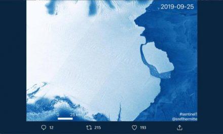 Iceberg gigante se ha desprendido de la Antártida