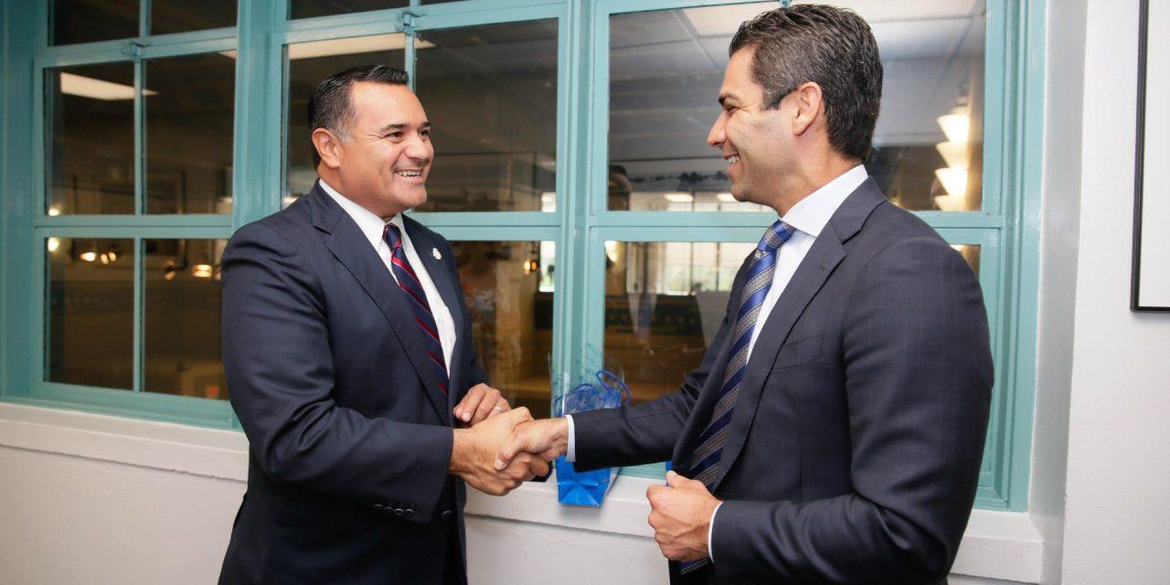 Busca Renán futuros intercambios de Mérida con Miami, Florida
