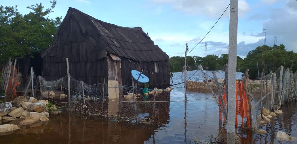 Progreso, Motul y Río Lagartos, los más afectados por lluvias