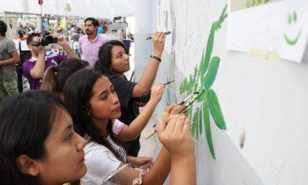 Universitarios revaloran el Chem Bech con intervención artística