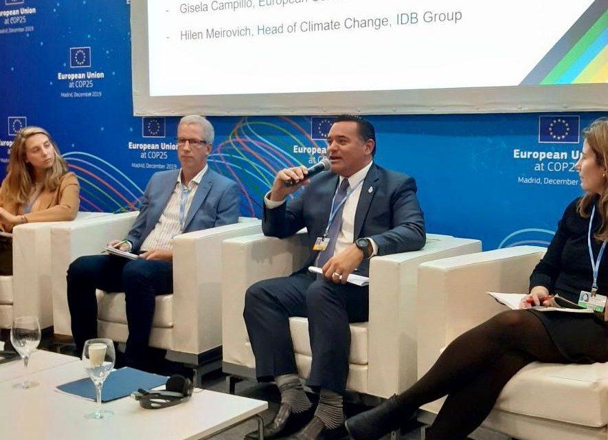 Acciones de Mérida ante cambio climático, en COP25 de Madrid