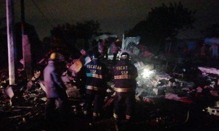 Trágico cierre de año: explota pirotecnia en domicilio de Kanasín