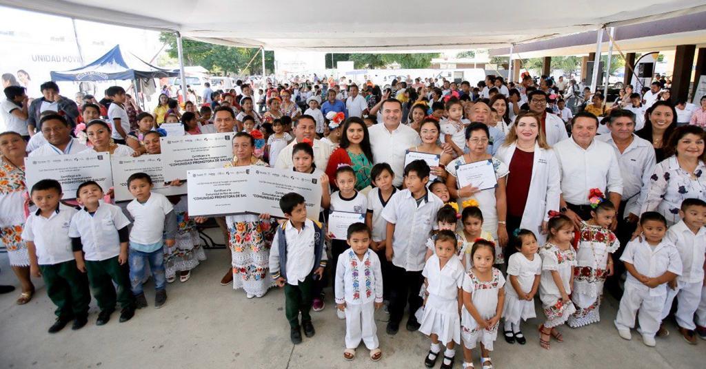 Otras 5 comisarías de Mérida, 'saludables y promotoras de la salud'