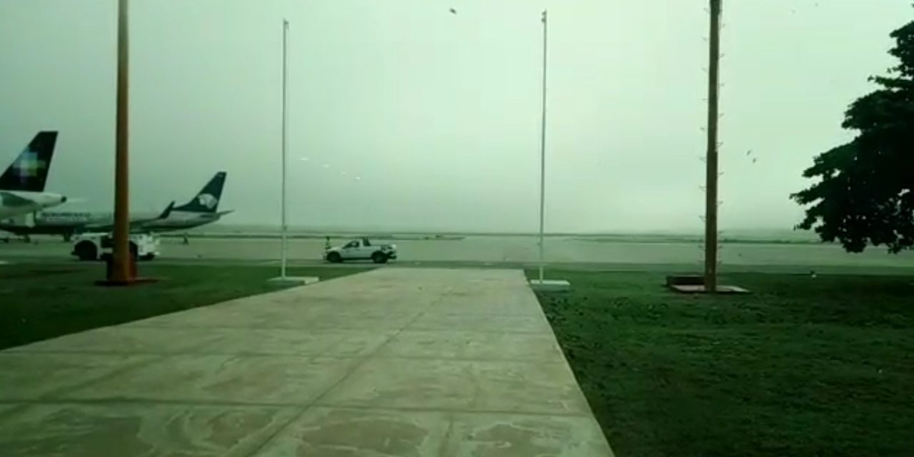 Niebla retrasó ocho vuelos de salida desde Mérida (Video)