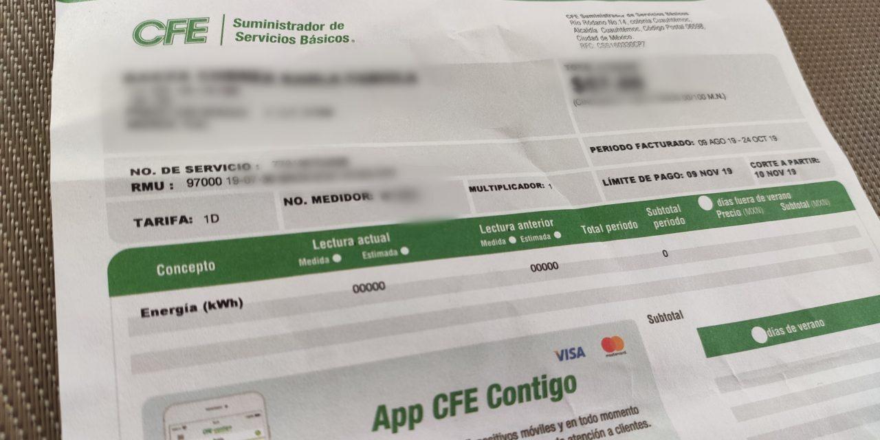 """CFE no aplicará cobro de """"impuesto sobre seguridad"""" en Yucatán"""