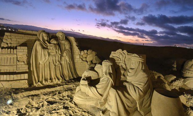 Visitan unas 215 mil personas nacimiento de arena en las Palmas de Gran Canaria