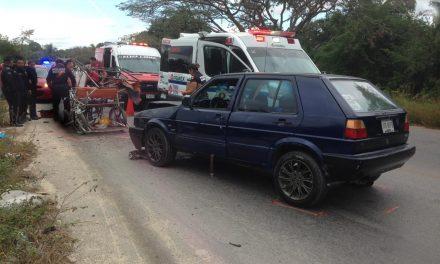 Pasajeros de mototaxi en Kanasín lesionados en choque