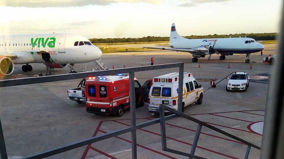 Bajó de emergencia en Mérida avión de ruta Cancún-CdMx