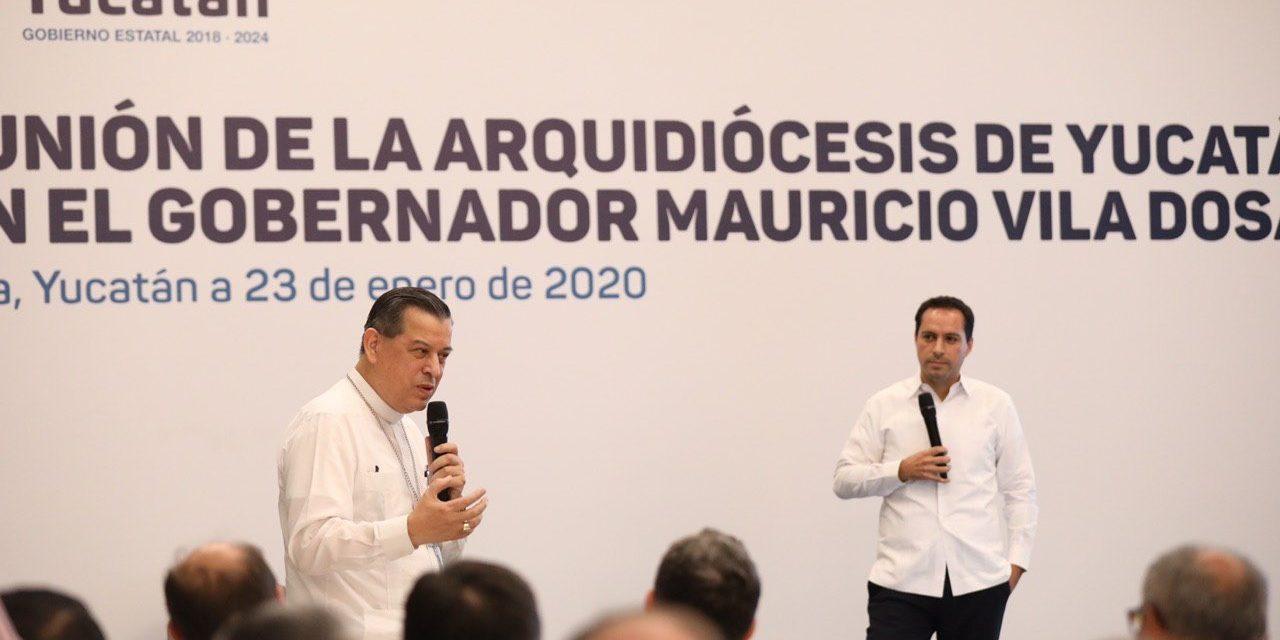 Arquidiócesis de Yucatán y Vila Dosal, por mayor colaboración social