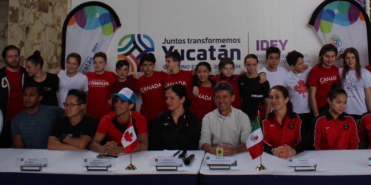 Entrena en Mérida selección juvenil de clavados de Canadá